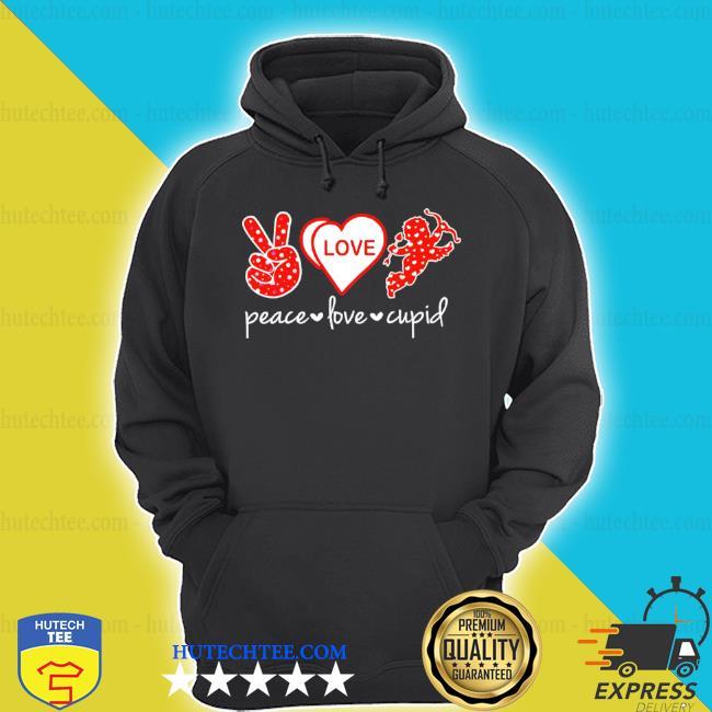 Peace love and cupid s hoodie