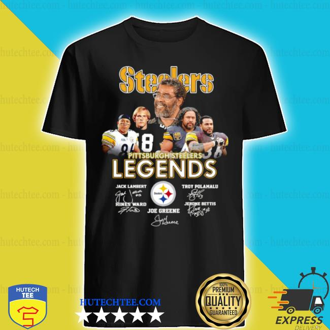 Pittsburgh Steelers legends signatures shirt