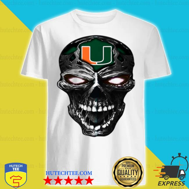 Skull miami hurricanes football shirt