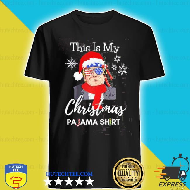 This is my Christmas pajama Trump political merry Christmas sweater