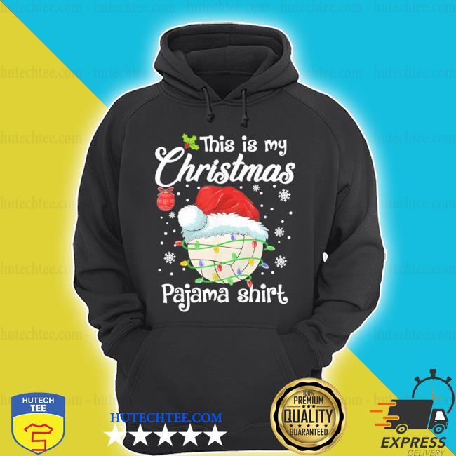 This is my Christmas pajama volleyball xmas sweater hoodie