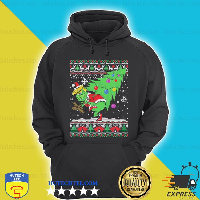 Trump grinch ugly Christmas sweater hoodie