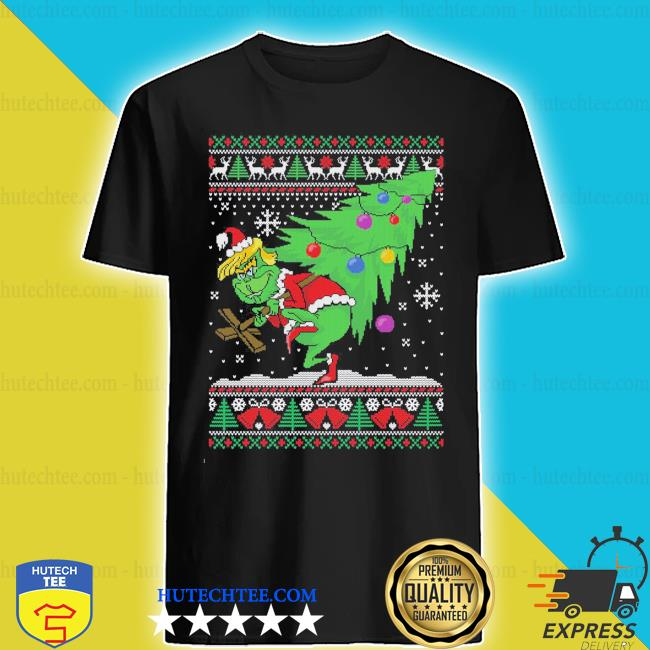 Trump grinch ugly Christmas sweater