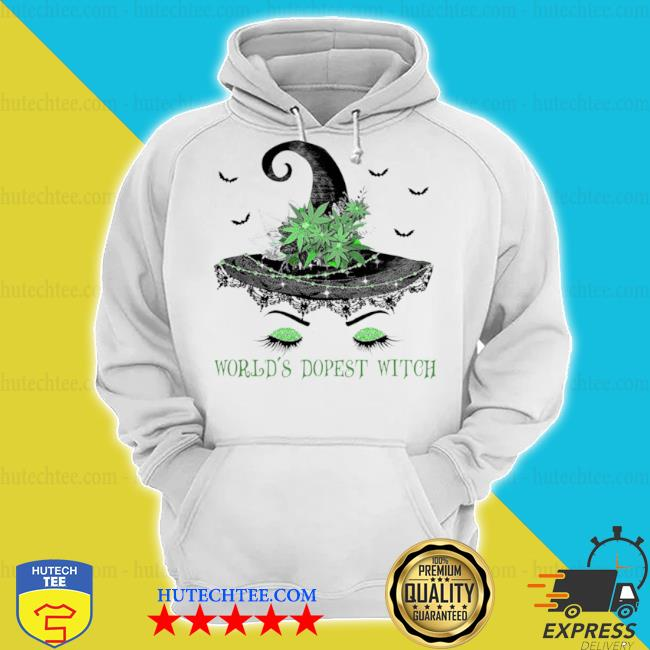 Witch hat cannabis grass world's dopest witch s hoodie