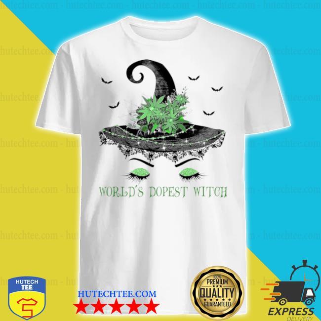 Witch hat cannabis grass world's dopest witch shirt