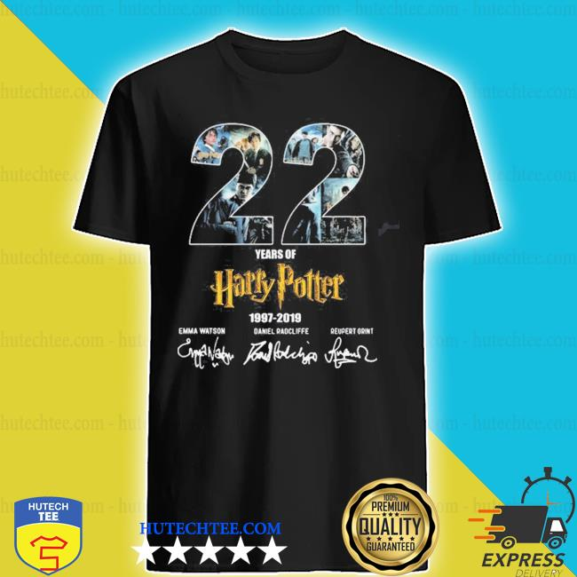 22 years of Harry Potter 1997 2019 signatures shirt