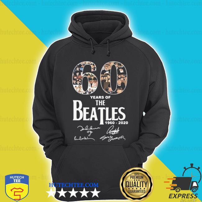 60 years of The Beatles 1960 2020 signatures s hoodie