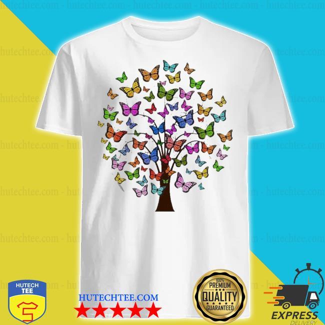 Butterflies in a tree shirt