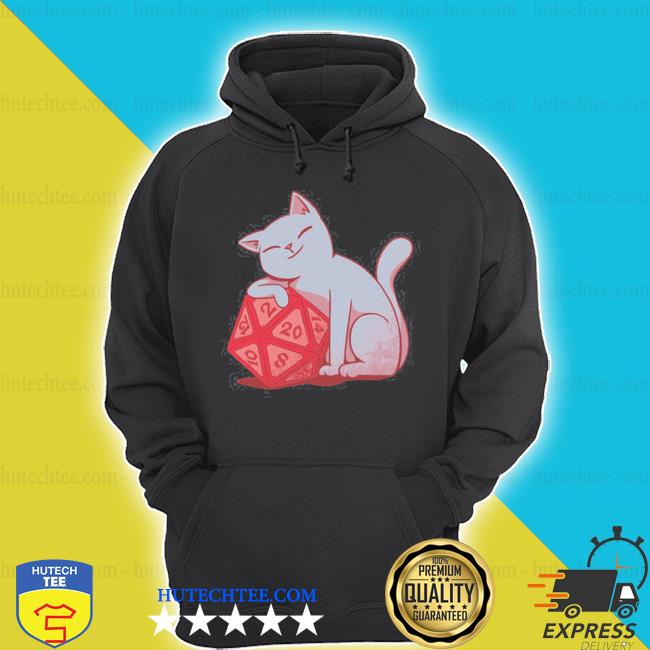 Don't bother me right meow dungeons and cats rpg d20 gamer s hoodie
