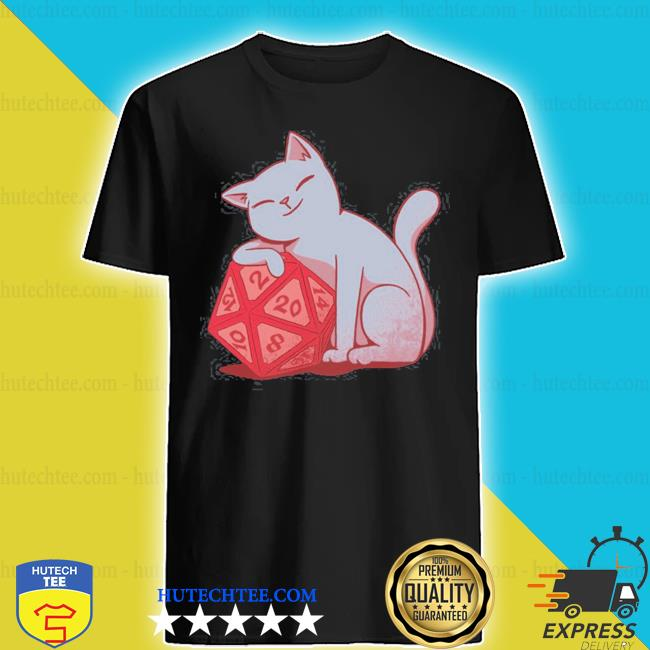 Don't bother me right meow dungeons and cats rpg d20 gamer shirt