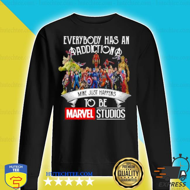 Everybody has an addiction mine just happens to be marvel studios s sweater