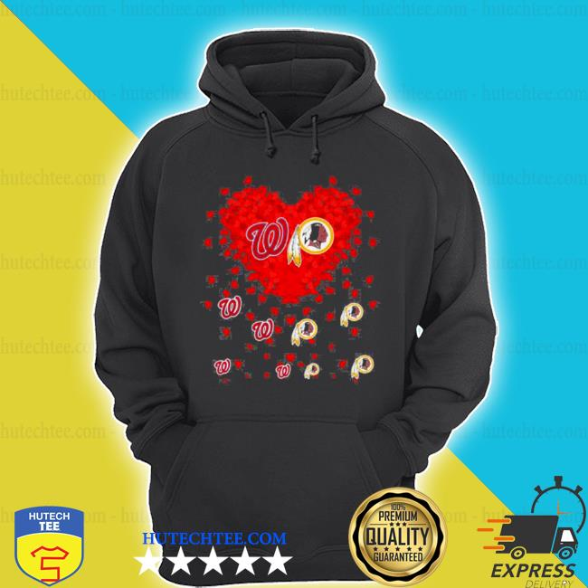 Heart red Washington and Redskins team Football s hoodie