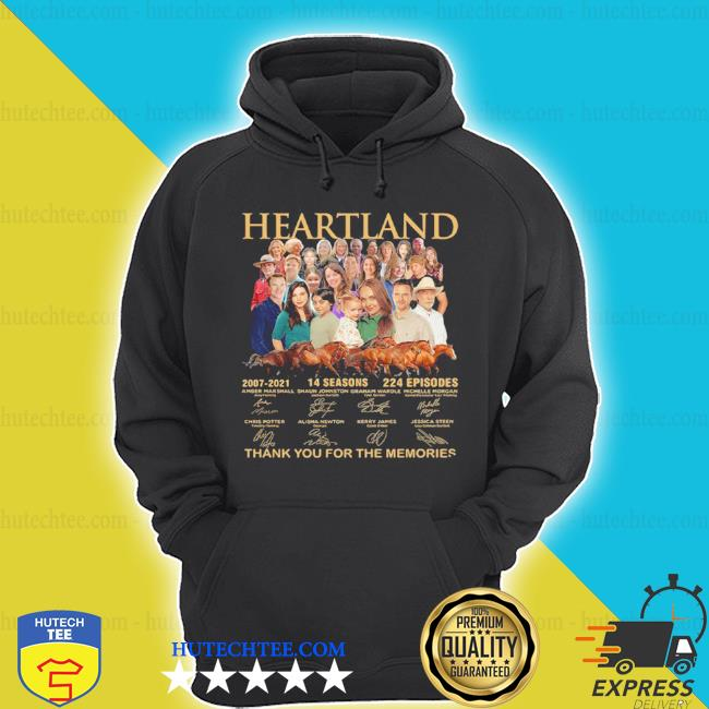Heartland thank you for the memories signatures s hoodie