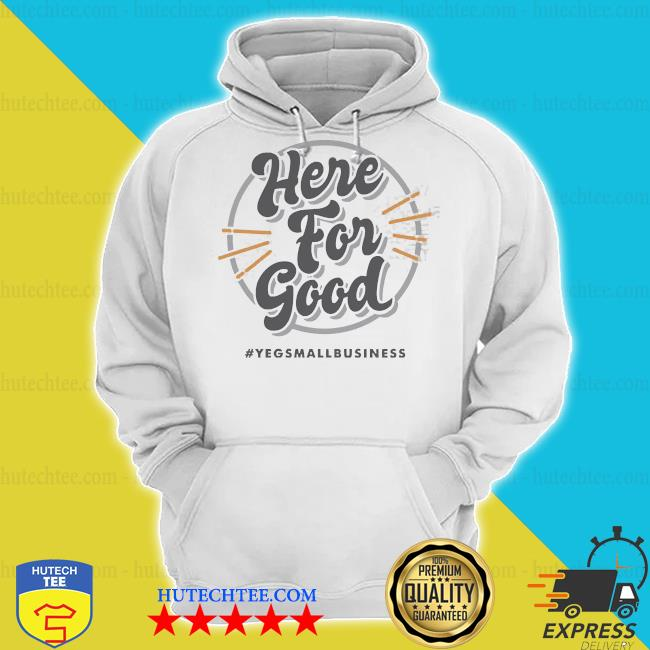 'here for good_ gray s hoodie