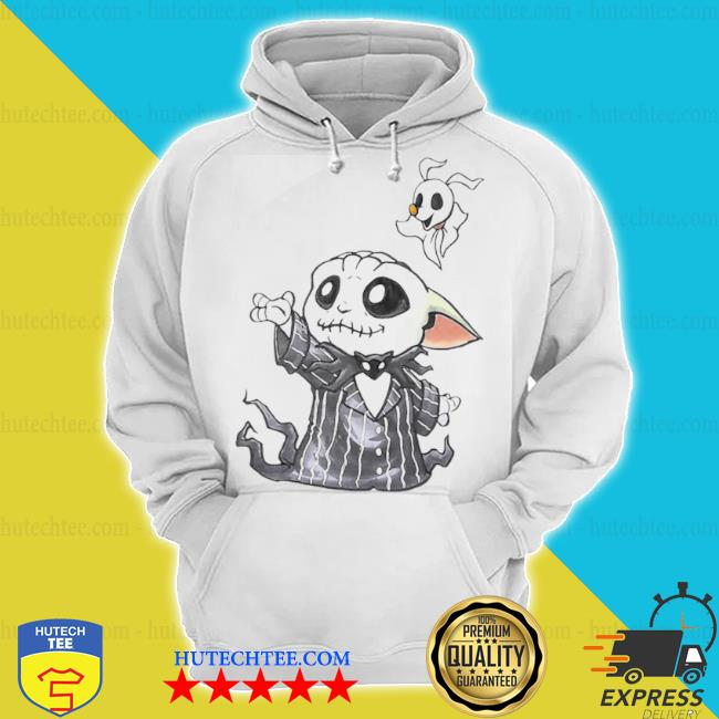 Hot baby Yoda in jack skellington and zero s hoodie