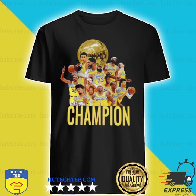 Los angeles Lakers champion 2020 NBA signatures shirt
