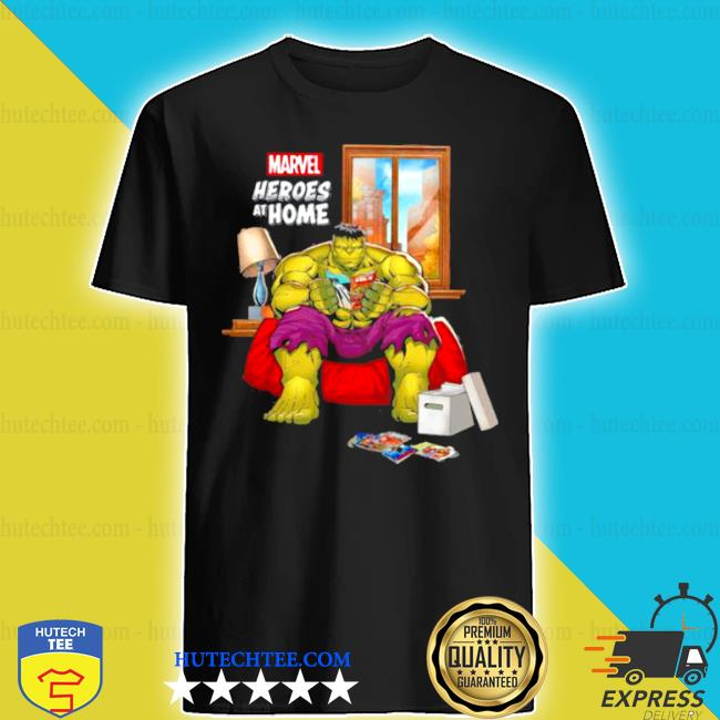 Marvel heroes at home Hulk shirt