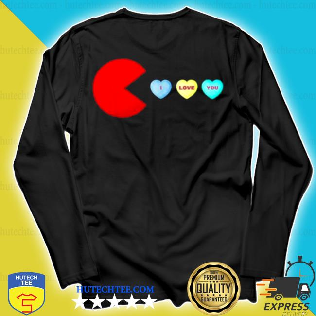 Pacman I love you heart valentines day s longsleeve