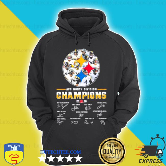 Pittsburgh Steelers AFC north Division champions 2020 signatures s hoodie