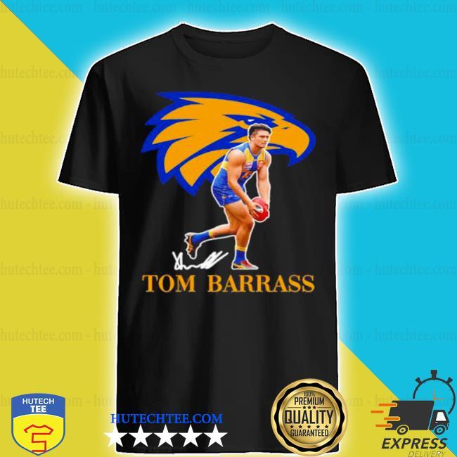 Tom barrass player of team philadelphia eagles football signature shirt