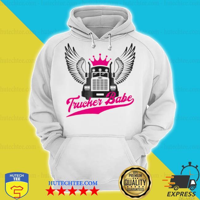 Trucker babe female truck s hoodie