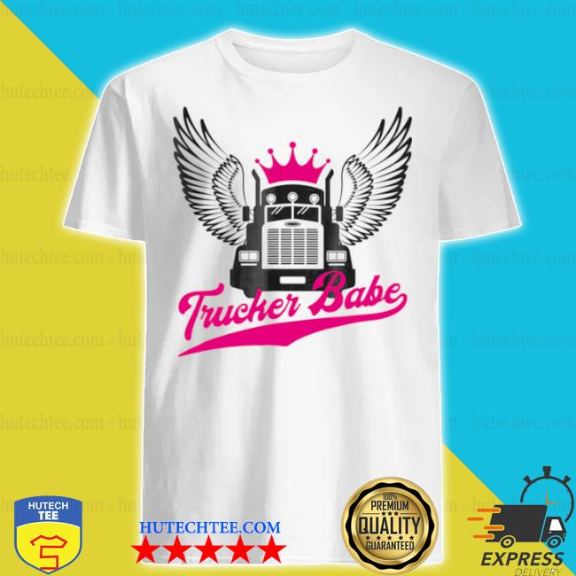Trucker babe female truck shirt