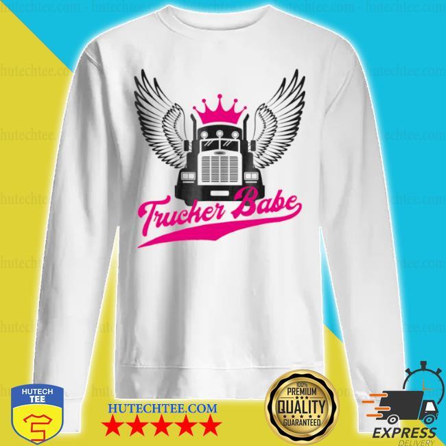 Trucker babe female truck s sweatshirt