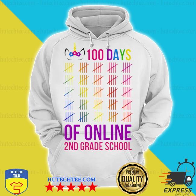 Unicorn 2nd grade school 100 days of online s hoodie