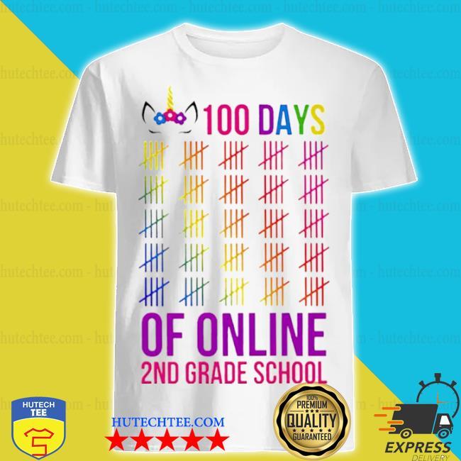 Unicorn 2nd grade school 100 days of online shirt